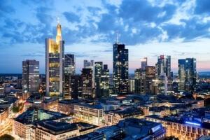 Skyline am Abend Frankfurt am Main